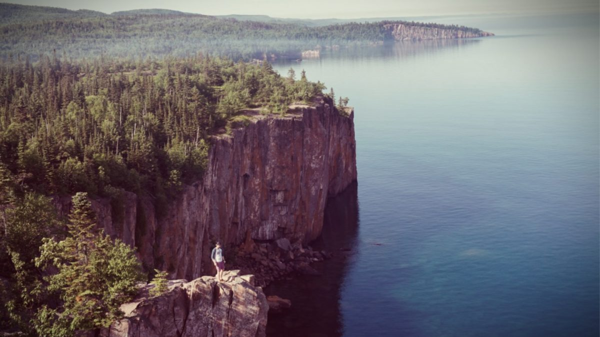 Cliffs overlooking Lake Superior